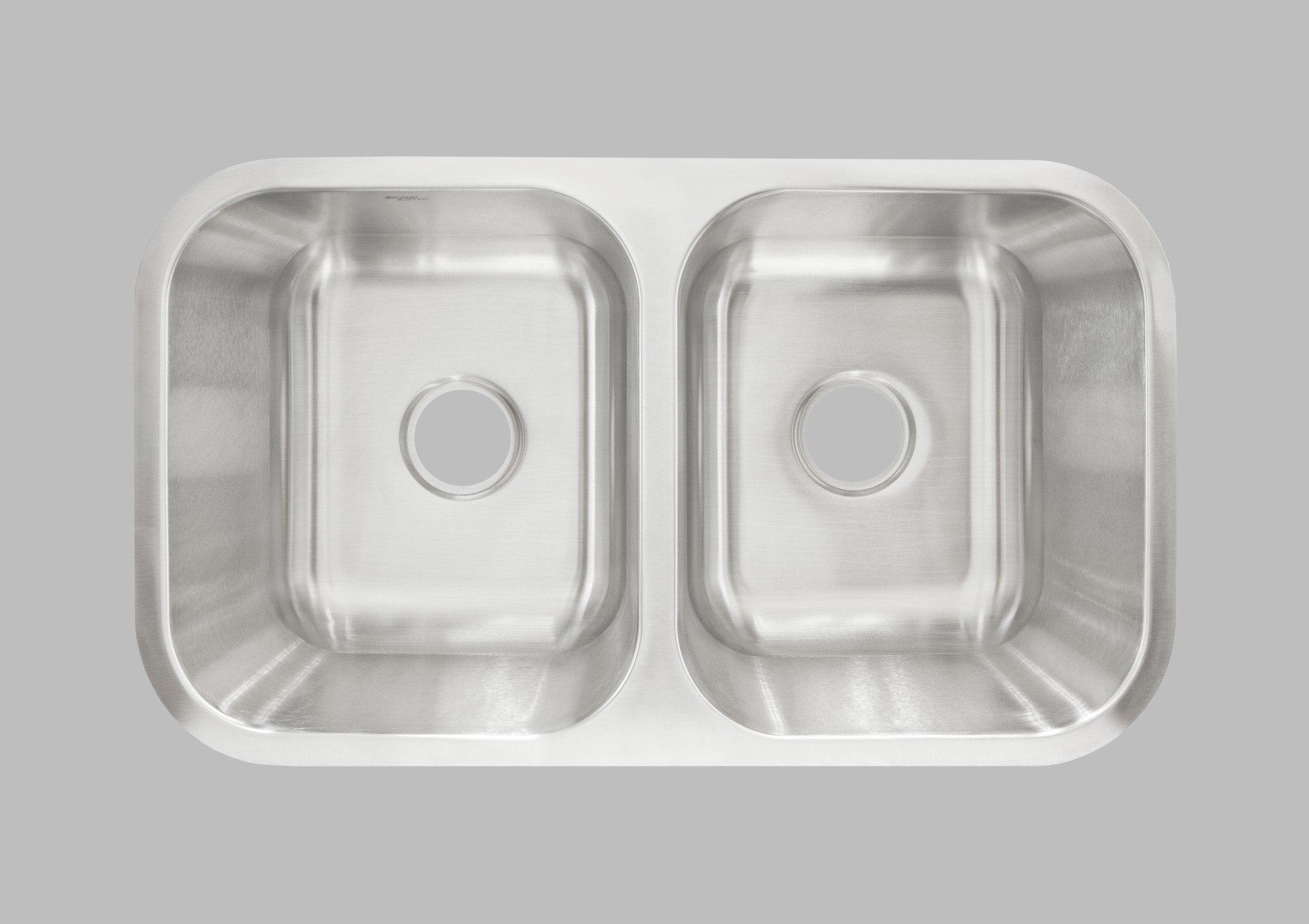 Less Care L205 31 Inch Undermount Double Bowl Kitchen Sink Kitchen ...