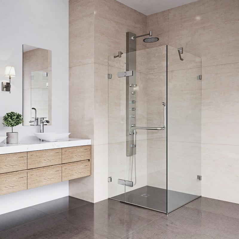 Vigo Vg6011 36x36 Frameless 36 Inch Tempered Glass Shower Enclosure