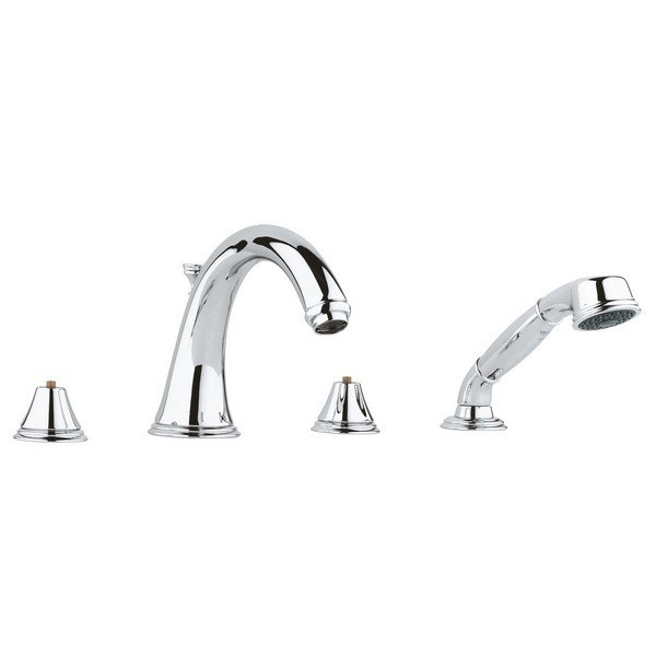 Grohe 25506001 Geneva Four-Hole Roman Bathtub Faucet with Handshower ...