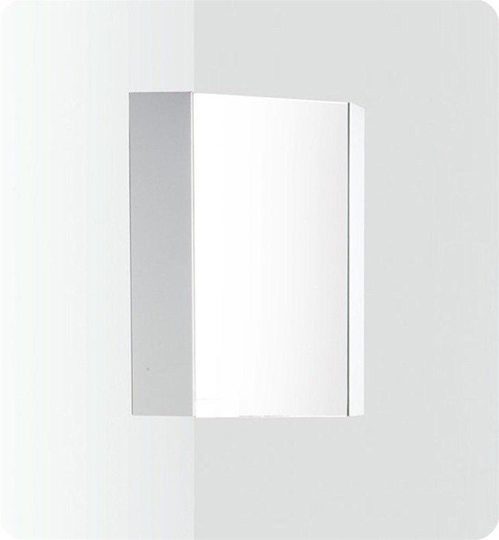 Fresca Fmc5082wh Coda 14 Inch White Corner Bathroom Medicine Cabinet