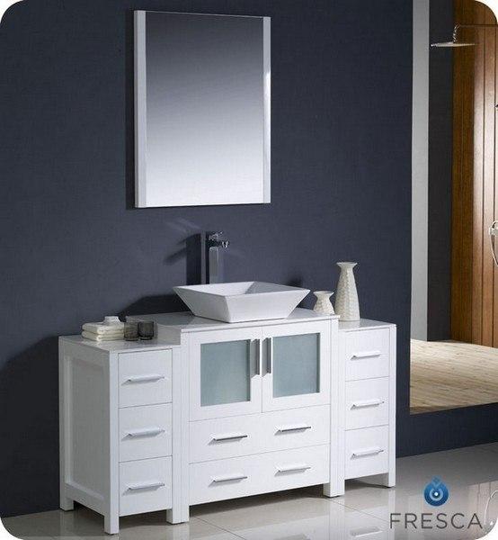 fresca fvn62 123012wh vsl torino 54 inch white modern