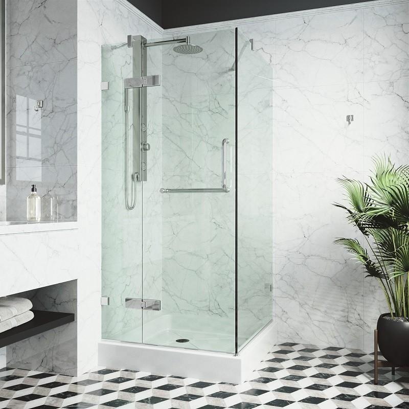 Vigo Vg6011 32x32w Frameless 32 X Inch Shower Enclosure With Base