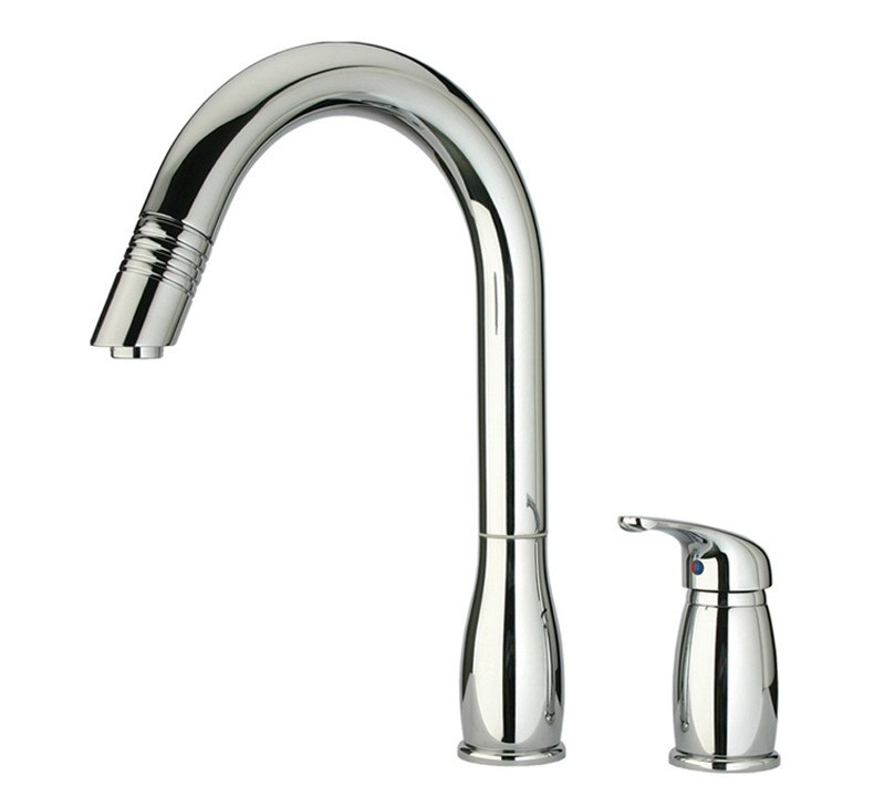 Whitehaus Whus492 Metrohaus 8 5 8 Inch Two Hole Faucet W Independent Single Lever Mixer