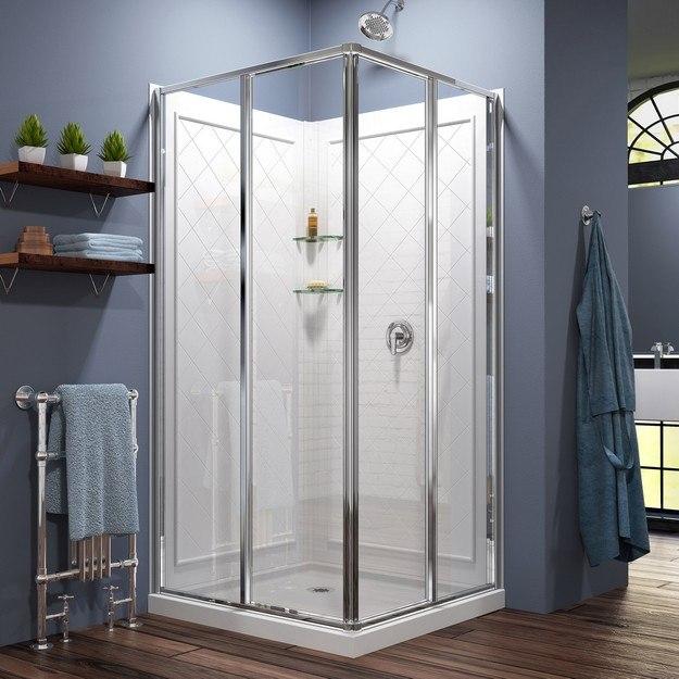 DreamLine DL 6150 01 Cornerview Framed Sliding Shower Enclosure 36 By 36 Inc