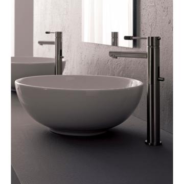 15 Bathroom Sink : Scarabeo 8009 Sfera 15.4 Inches Bathroom Sink 8009/WH 8009/30 8009/31 ...