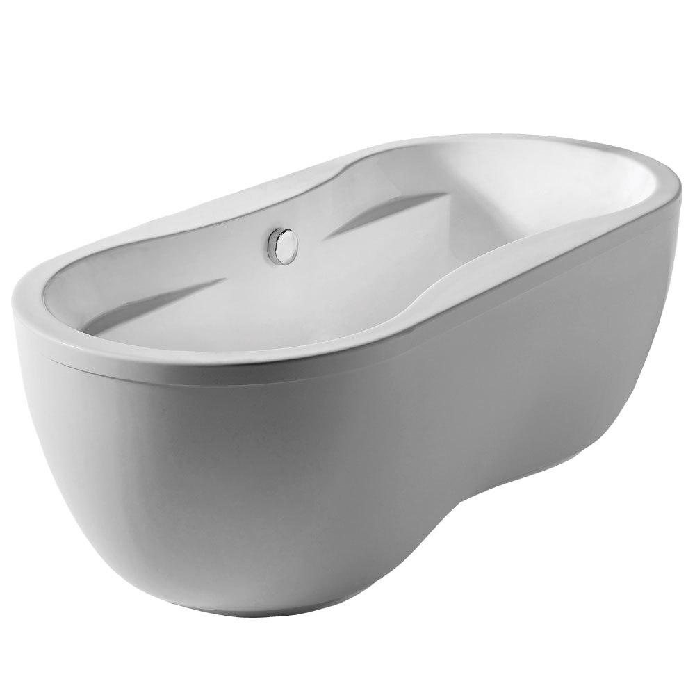 WhiteHaus WHDB170BATH Bathhaus 67 Inch Oval Double Ended Acrylic Freestanding