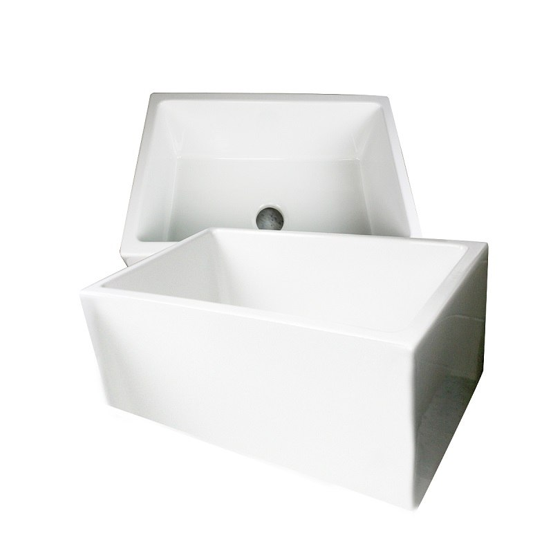 24 Inch Farmhouse Sink : Sinks Hyannis-24 Fireclay Farmhouse 24 Inch Apron Sink Hyannis-24 ...