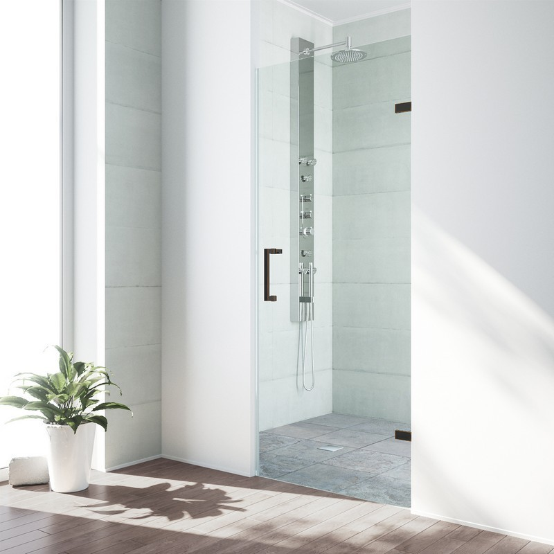 Vigo Vg6072chcl24 Soho 24 Inch Adjustable Frameless Shower Door