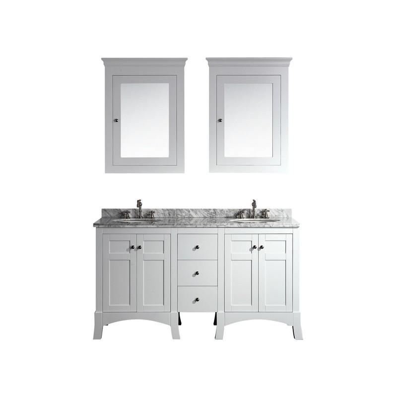 eviva evvn514 60wh new york 60 inch white bathroom vanity with white
