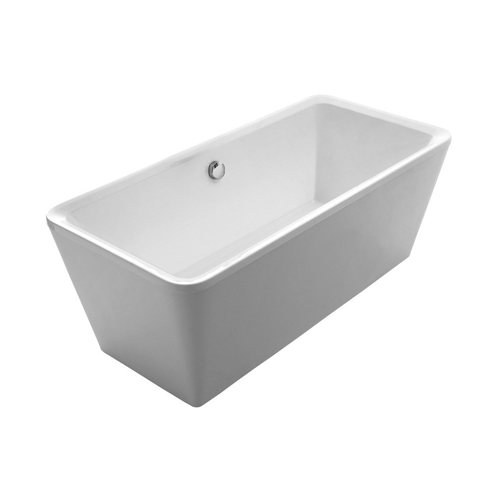 Whitehaus WHHQ170BATH Bathhaus 67 Inch Cubic Style Double Ended Freestanding