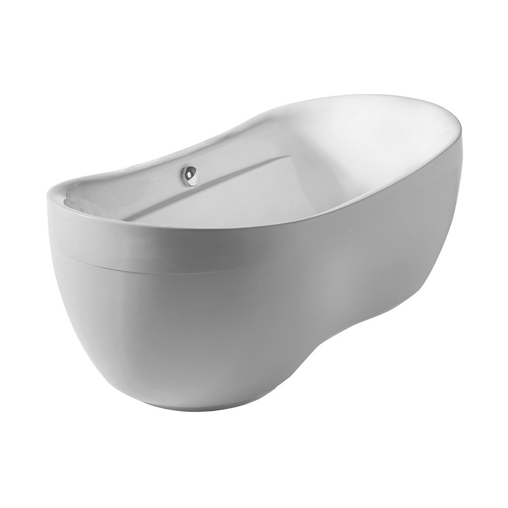 Whitehaus WHYB170BATH Bathhaus 70 7 8 Inch Oval Double Ended Freestanding Bat