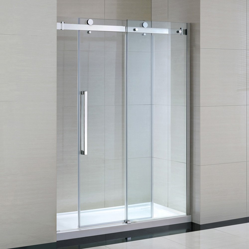 Ove decors 15ska sier60 001wm sierra 60 inch tempered clear glass ove decors 15ska sier60 001wm sierra 60 inch tempered clear glass shower kit with glass panels and base planetlyrics Image collections