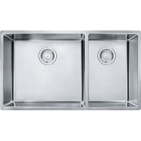 Franke CUX160 Cube 31-1/2 Inch Undermount Double Bowl Stainless ...