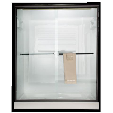Am00370421213 Reeded Glass Euro Frameless By Pass Sliding Shower