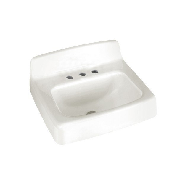 American Standard 4867.008.020 Commercial 15-1/2 Inch Enameled Cast ...