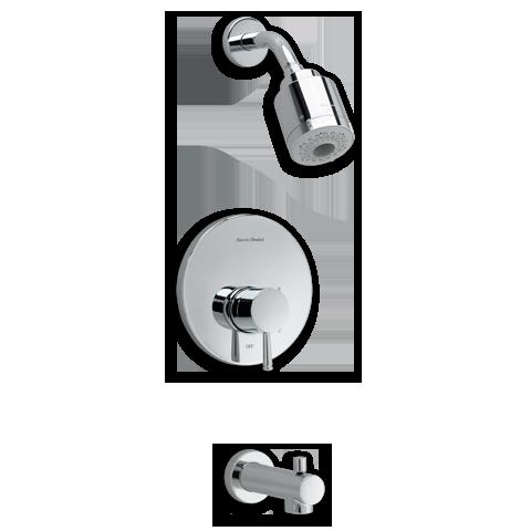 American Standard T064.508 Serin Pressure Balance Bath/Shower Trim ...