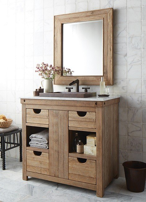 Native Trails Vnw361 Chardonnay 36 Inch Weathered Oak Single Sink Vanity Cabinet