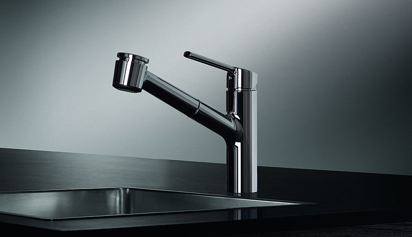 KWC 10.441.033 Luna-E Kitchen Faucet with Pull-Out Spray 10.441 ...