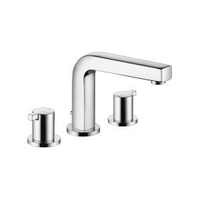 Kwc Ava Widespread 3 Hole Lavatory Faucet With Fixed Spout