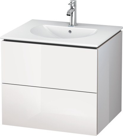 duravit lc6261 l cube 24 3 8 x 20 1 4 inch vanity unit wall mounted