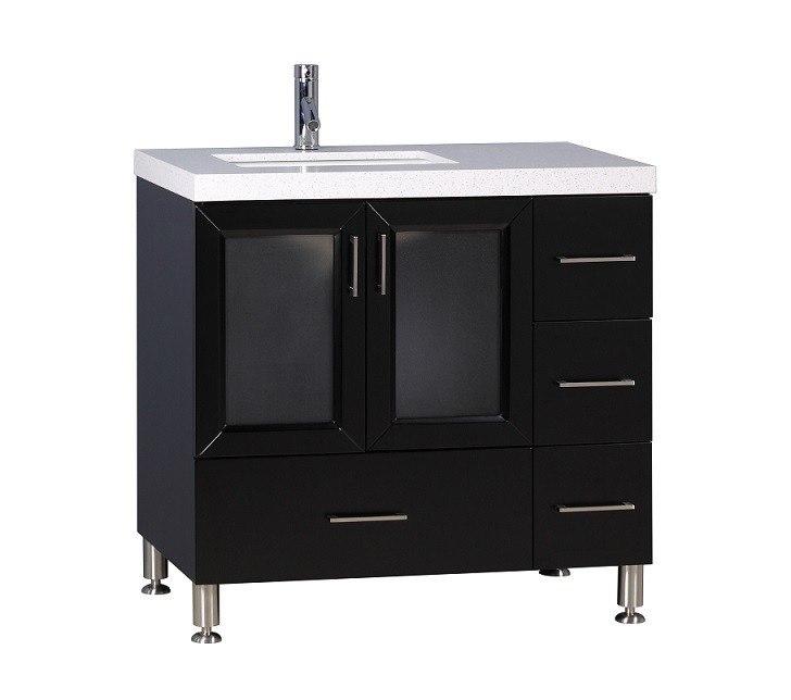 Design Element Wf 36 Westfield 36 Inch Single Sink Vanity In Espresso Wf 36 Wf36 Bathroom Vanity