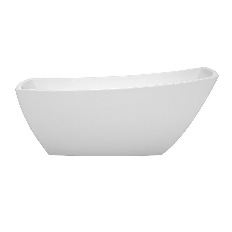 Wyndham Collection WCBTK153367 Antigua 67 Inch Freestanding Bathtub In White
