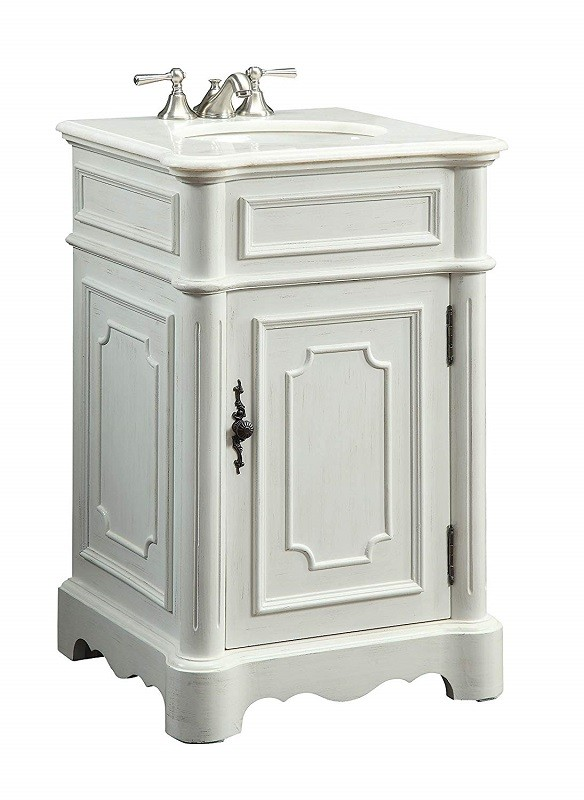 21 Inch Antique White Bathroom
