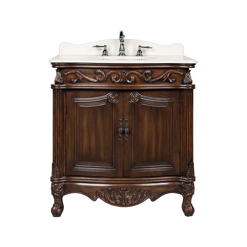 chans furniture cf 2873m tk fiesta 32 inch brown bathroom