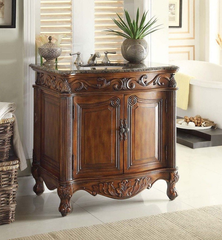 chans furniture cf 2873sb tk fiesta 32 inch brown bathroom