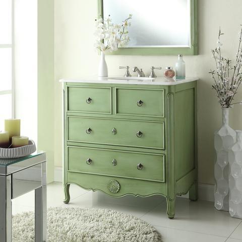 chans furniture hf081g daleville 34 inch vintage green