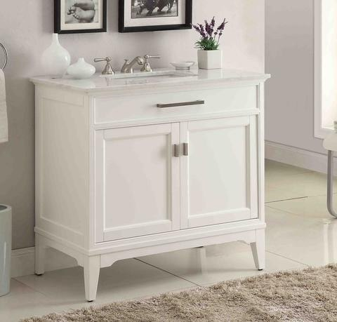 chans furniture gd 6606 36 orson 36 inch white bathroom sink vanity gd
