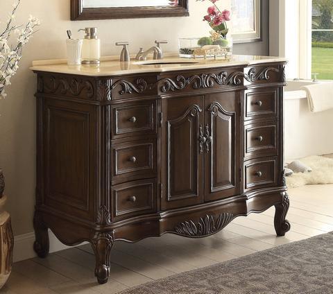 chans furniture sw 3882m tk 42 beckham 42 inch dark brown bathroom