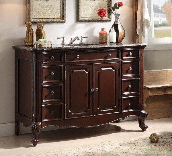 chans furniture gd 9064v 48 clinton 48 inch dark cherry bathroom sink