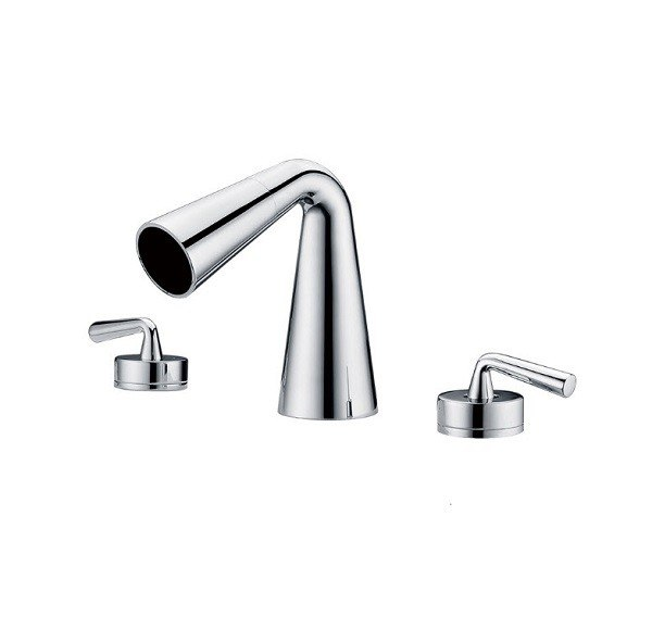 ALFI Brand AB1790 Widespread Cone Waterfall Bathroom Faucet AB1790-BN ...