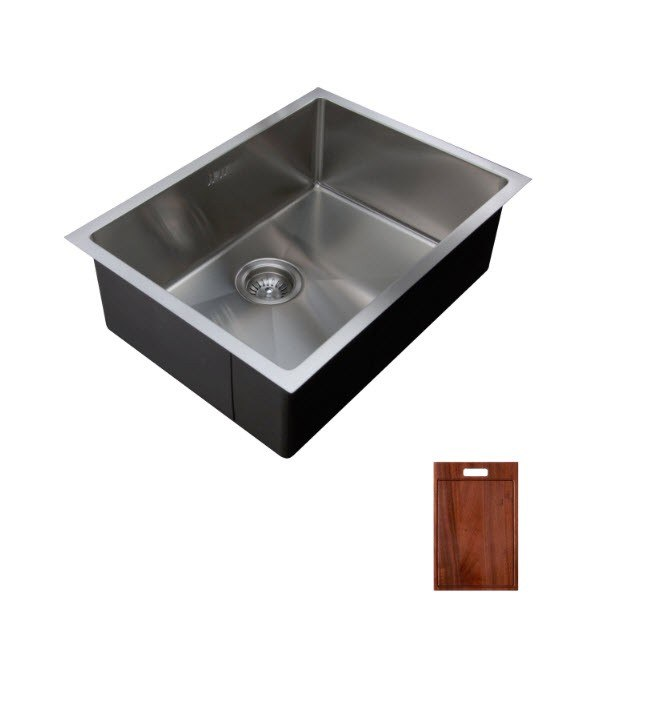 Ukinox Rs558 C Undermount Single Bowl Stainless Steel Kitchen Sink With Cutting Board Rs558 C Rs558c