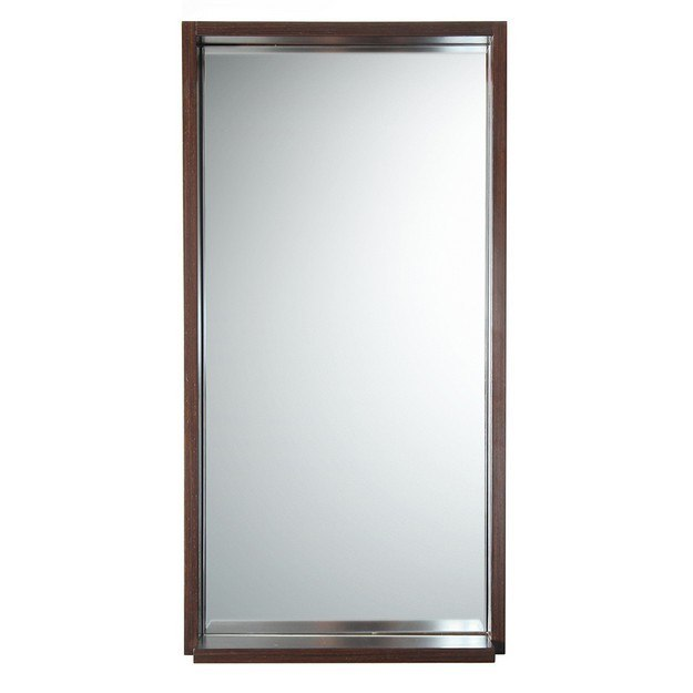 Fresca fmr8118wg allier 16 inch wenge mirror with shelf for Miroir wenge