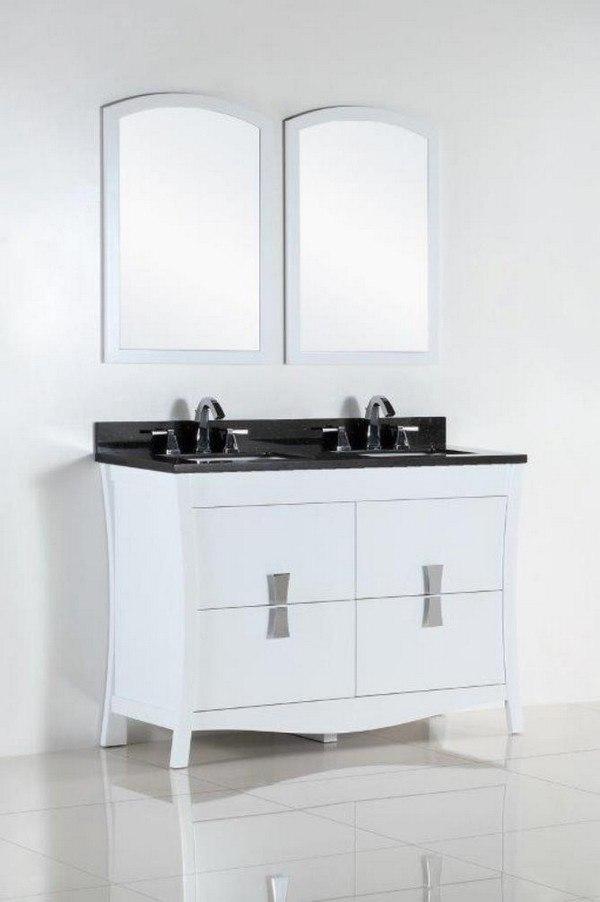 Bellaterra 500701 48d Bg 48 Inch Double Sink Vanity With Black