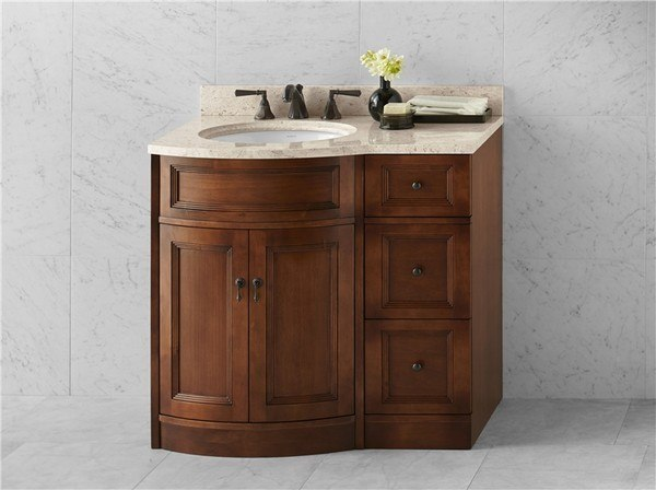 Ronbow 060624 F11 Marcello 24 Inch Bathroom Vanity Cabinet Base In Colonial Cherry
