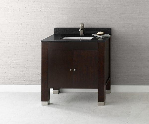 Ronbow 032531 3 F07 Devon 31 Inch Bathroom Vanity Base Cabinet In Vintage Walnut