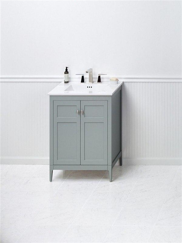 Ronbow 051724-3-F21 Briella 24 Inch Bathroom Vanity Cabinet Base in ...