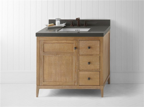 Ronbow 051736 3l R01 Briella 36 Inch Bathroom Vanity Cabinet Base In Vintage Honey