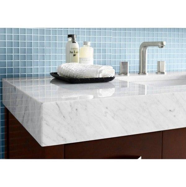 Ronbow 304436 1 Cw Wideeal 36 X 22 Inch Marble Vanity Top In Carrara