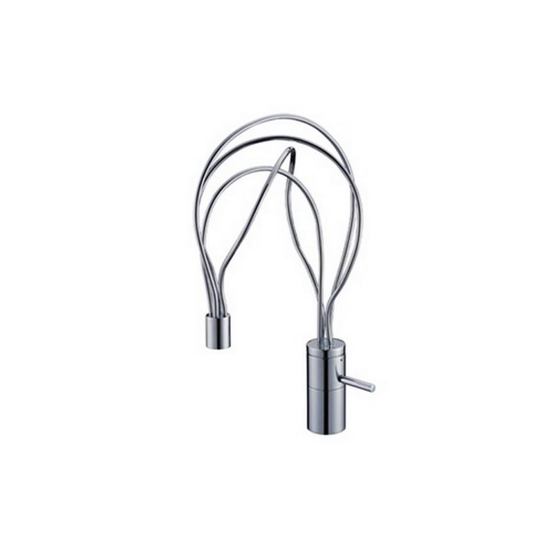 Kubebath AFB070 Aqua Filli Single Lever Bathroom Vanity Faucet in Chrome