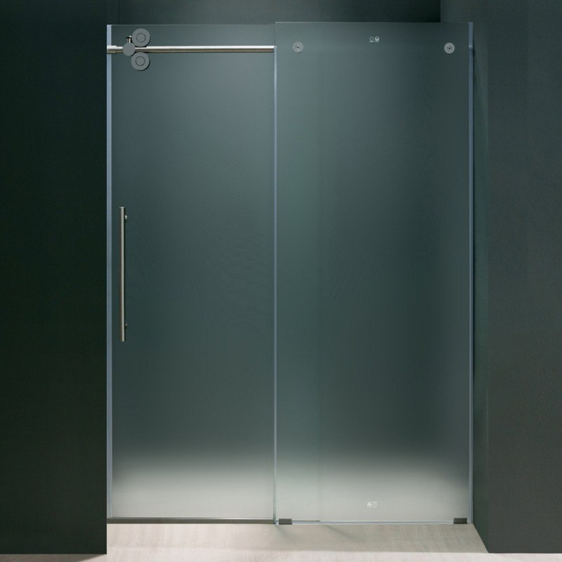 VigoVG6041CHMT6074L 60 Inch Frameless Shower Door Frosted Glass ...