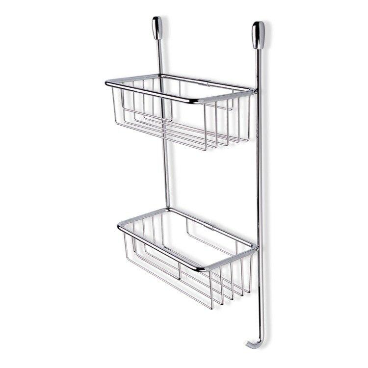 StilHaus 822 Wire Chrome Wire Corner Double Shower Basket