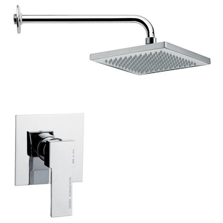Remer SS1125 Mario Rectangular Modern Shower Faucet Set SS1125 ...
