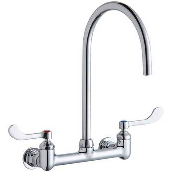 Elkay Lk940lgn08t4h Wall Mount Faucet With 8 Inch Gooseneck Spout