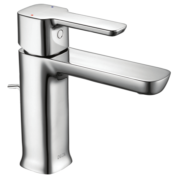 Delta 581lf Pp Modern Single Handle Project Pack Lavatory Faucet In Chrome Plastic Pop Up 581lf