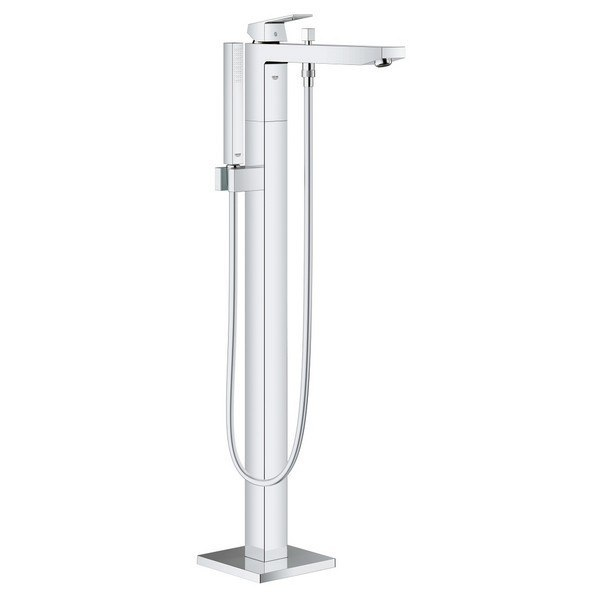 Grohe 23672001 Eurocube Free Standing Bathtub Faucet in Chrome ...