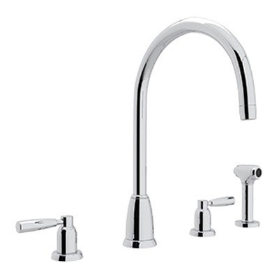 rohl u4891ls 2 perrin rowe holborn 4 hole c spout - 4 Hole Kitchen Faucet